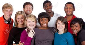 6799411-A-multi-racial-group-of-college-students-on-a-white-background-Stock-Photo